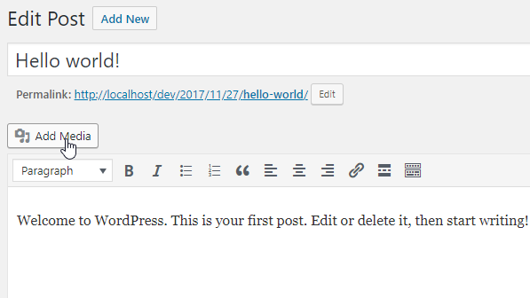 Wordpress Media