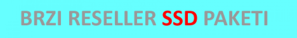 Reseller paketi na SSD diskovima u HR datacentru :)